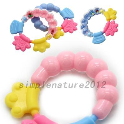 1PCS Newborn Baby Bell Cute Comfortable Rattles Teethers Training Chewing Safety