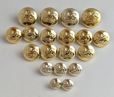 19 x Southern Rhodesia General Service Gold Anodised Uniform Military Button Lot