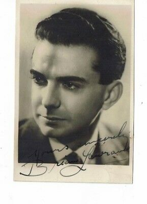 Brian Lawrance  Australian Band Leader Hand Signed vintage photograph 5 x 3