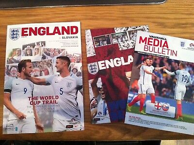 England v Slovakia - 2018 FIFA World Cup Qualifier - Wembley 4/09/17- Programme