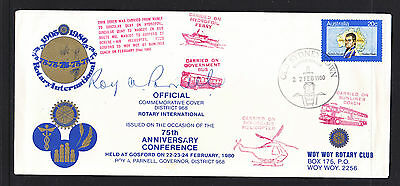 1980 Rotary International Cover Signed Front And Back, Limited Edition