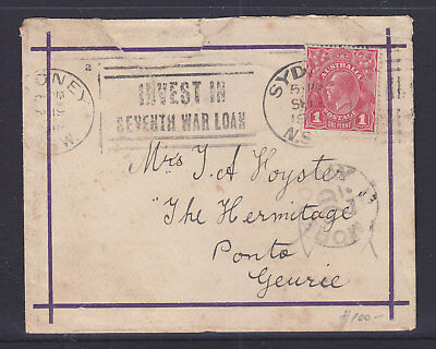 1d RED NICE PINK SHADE ON 1919 COVER WITH MORE TO PAY 2d SURCHARGE FRANK.