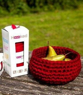Hoooked Zpagetti Diy Crochet Kit Indian Summer Cranberry Bowl