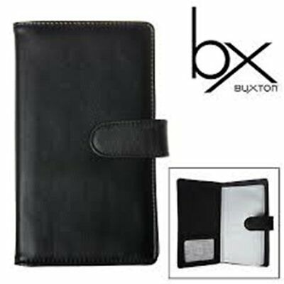 Buxton Business Card File - 96 Card Slots - Buttersoft Leather Black