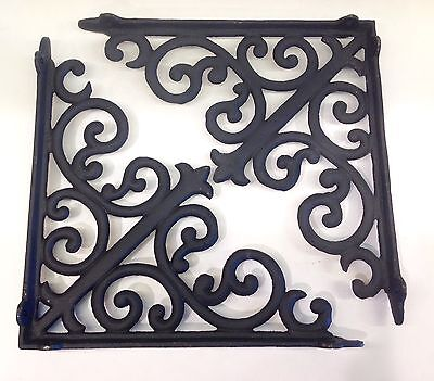 Cast Iron Antique Look Black Scrolled Shelf Brackets ~ Set of 2