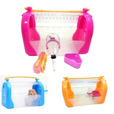 Small Animals Carrier Pratical Little Pet Outgoing Box Hamster Cage With Belt