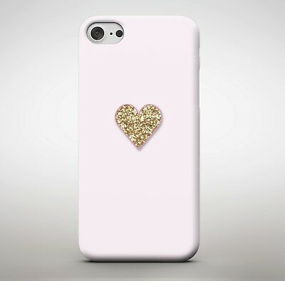 Pink Gold Glitter Love Heart Shaded Girls Girly Stand Out Phone Case Cover
