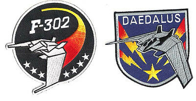 "Stargate SG-1 Daedalus/F-302 Screen Accurate 4"" Patch Set of 2- Mailed from USA"