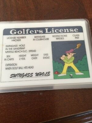 Driving Licence Fun Cards Golfing