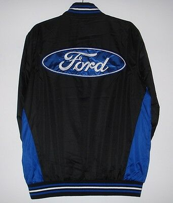 Size L Ford Jacket Light Weight Ripstop Nylon Embroidered Jacket JH Design Black