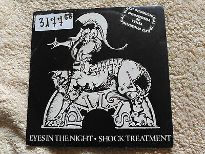 Single Promo Pallas - Eyes In The Night - Harvest Spain 1984 Vg/vg+