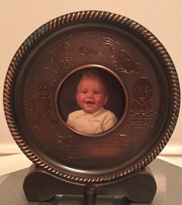 Vintage Baby Photo Frame Seba Made in England Engrave name, weight  date etc.