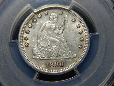 1888-S 25C Seated Liberty Quarter AU-53 PCGS