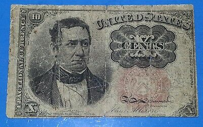 1874-1876 5th Issue 10¢ Fractional Currency,Meredith,Fr 1266,Very Good,Nice!