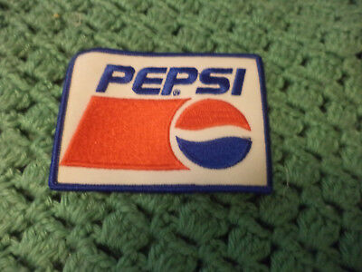 "Pepsi Cloth Patch Embroidered Soda Cola 2 3/4"" x 4"""