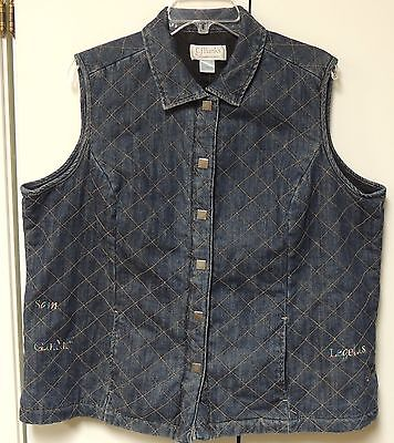 Christopher & Banks Quilted Denim Vest Lord of the Rings Gollum Gandalf Frodo 1X