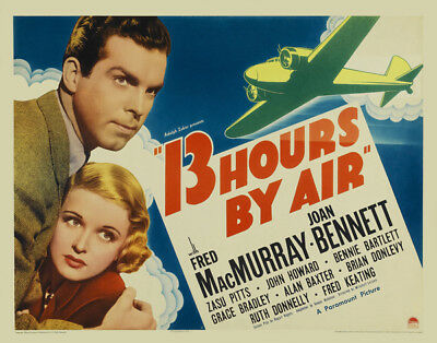 13 Hours by Air UNSIGNED poster photo - K2107 - Fred MacMurray & Joan Bennett