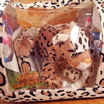 Jungle Cubs Care Leopard Plush with Medical Accessories Manley Toys HSN NEW