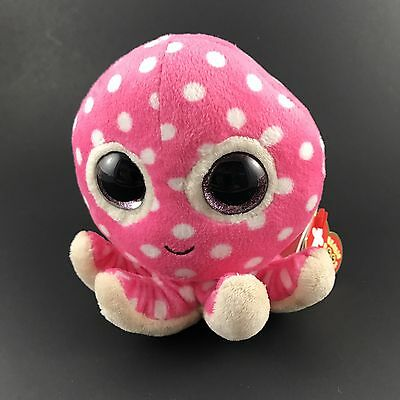 Ty Beanie Boo OLLIE OCTOPUS MINT w Tags Pink 5 Inches Tall Cute NWT Baby