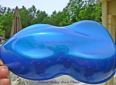 Cobalt Rally Blue Pearl Pigment Plasti Dip Gloss Auto Urethane 2K Clearcoat HOK