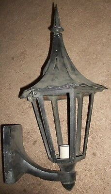 ANTIQUE VINTAGE 40s-50s LARGE BLACK CAST OUTSIDE DOOR LIGHT FIXTURE SWIVEL SWEET