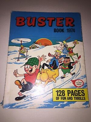 THE BUSTER BOOK 1974 Bronze Age comic annual rare great condition see photos