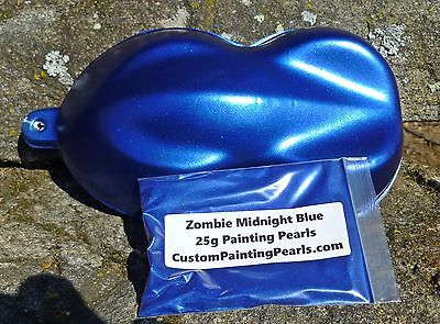 Candy Zombie Midnight Blue Pearl Pigment Auto Grade Lacquer  Gloss HOK