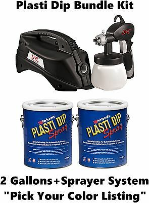 Plasti Dip 2 Gallon + DYC DipSprayer System Bundle Kit Black, Camo, All Colors