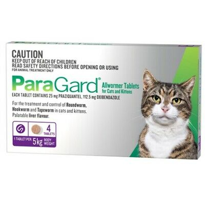 Paragard Allwormer Tablets for Cats and Kittens Up to 5kg - 4 Tabs Cat Cats