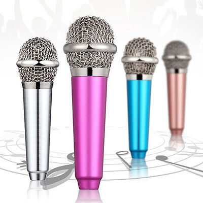 Mini 3.5mm Microphone Mic Mobile Phone Laptop Karaoke Wired Android IOS 1 pcs US