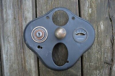Vintage 1928 1929 Early 1930 Model A Ford Dash Instrument Ignition Panel