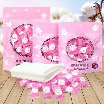 100Pcs Dry Compressed Coin Disposable Face Towel Baby Wipes Tablet Travel Tissue