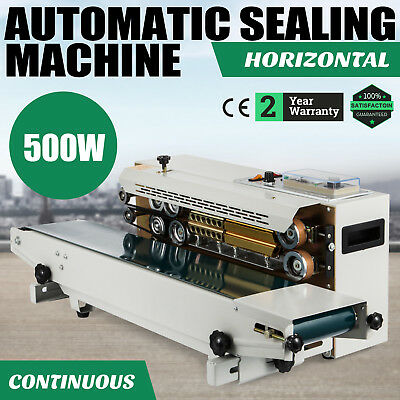 Automatic 500W Horizontal Continuous Plastic Bag Sealing Machine Band Sealer