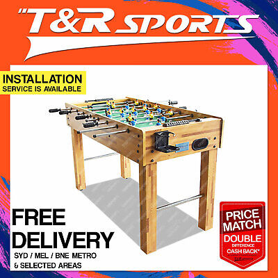 4Ft Wooden Soccer / Foosball Table New Model For Kids Small Room Au Stock