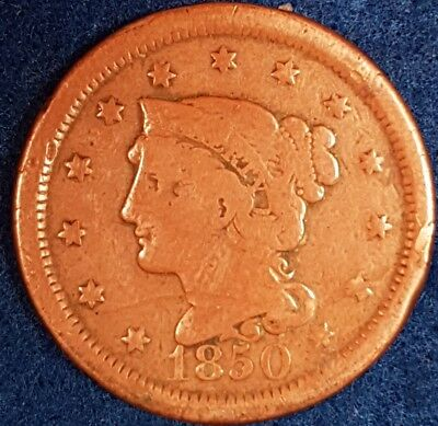 1850 American Large Cent  ID #53-9