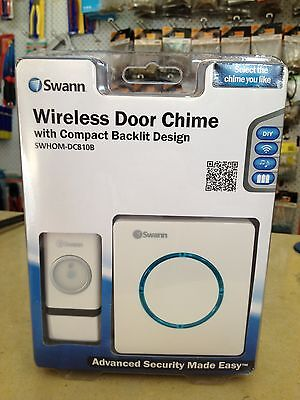 1 X Wireless Door Chime with Compact Backlit Design.