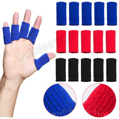 10Pcs Elastic Stretchy Finger Sleeves Sport Support Brace Thumb Protector Wrap