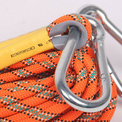 8mm 10/20/30m Durable Rock Climbing Safety Rappelling Rope Auxiliary Cord Slings