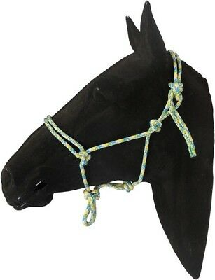 Ezy-Hold Rope Halters Cob Size  Blue / White / Yellow