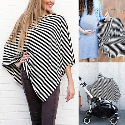 2in1 Baby Mum Nursing Breastfeeding Poncho Cover Up Udder Car Seat Cover Blanket