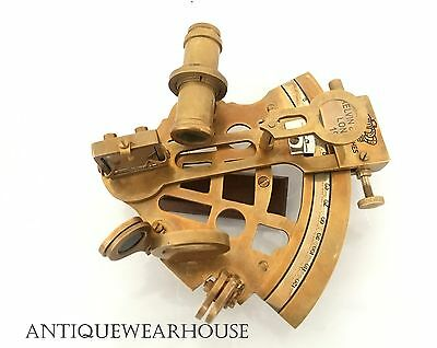Handmade Antique Brass Sextant Maritime Navigation Sextant Vintage Marine Decor