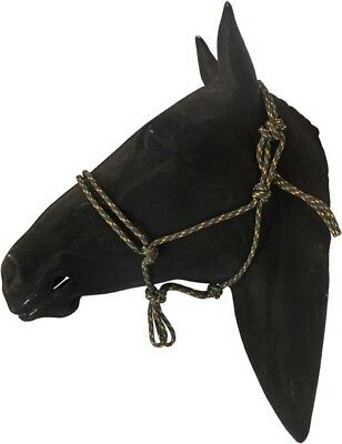 Ezy-Hold Rope Halters Cob Size Brown / Yellow / Green