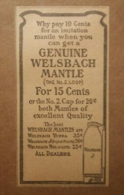 1904 Genuine Welsbach Mantle Ad