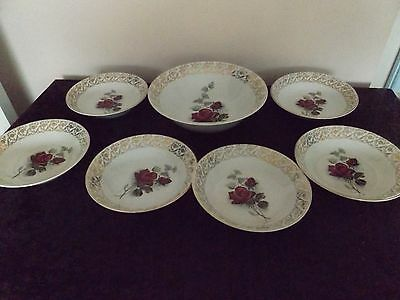 7 piece Set - British Anchor Staffordshire Hostess Tableware