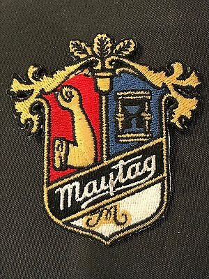 Vintage MAYTAG Brand Embroidered  Uniform Patch Crest Coat of Arms New