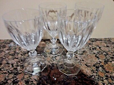 4 Mikasa Crystal Park Lane Stem Wine Glasses Glass W. Germany Sn112 Richelieu
