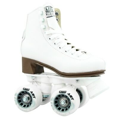 Crazy CELEBRITY Jnr Classic Retro Roller Hi White Boot Skates BARGAIN!