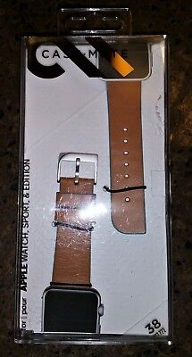 Case-Mate 38mm Apple Watch Edged Brown And Blue Leather Band CM032799 NEW Sealed