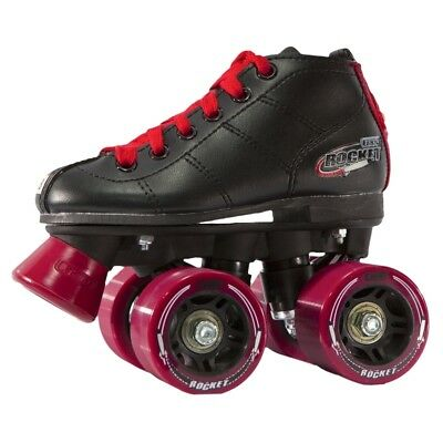 Crazy ROCKET KIDS Roller Skates - Black/Red - NEW Speed Rollerskates CLEARANCE