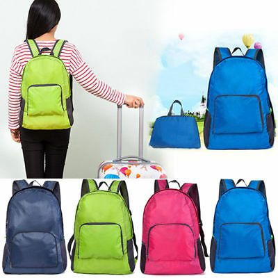 Travel Hiking Sports Backpack Rucksack Packable Folding Daypack Shouder Bag SHUK
